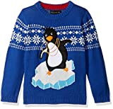 Blizzard Bay Little Boys' Pimped Out Penguin Sweater, White, Blue Combo, 6