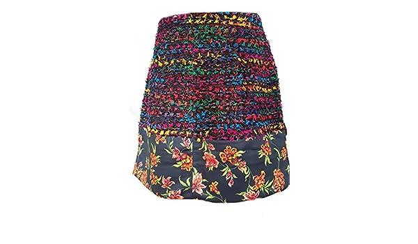 Derhy - Falda - Trapecio - para Mujer Multicolor L: Amazon.es ...