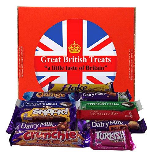 British Foods Worldwide Favourite Cadbury Selection | An assortment of 11 Cadbury British Chocolate Bars Product Assortment