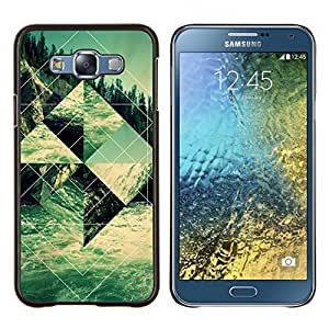 Edificio Religioso Forma Arte- Metal de aluminio y de plástico duro Caja del teléfono - Negro - Samsung Galaxy E7 / SM-E700