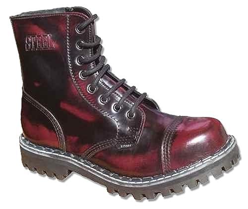 Steels Burgund 8 Loch Stiefel Burgund Steels Rub Off  Amazon   Schuhe & Handtaschen 6c47b4