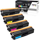 GPC Image Compatible Toner Cartridge Replacement for Brother TN433 TN-433 TN431 TN436 Toner High Yield to Use with HL-L8260CDW HL-L8360CDW MFC-L8900CDW (1 Black, 1 Cyan, 1 Magenta, 1 Yellow, 4 Pack)