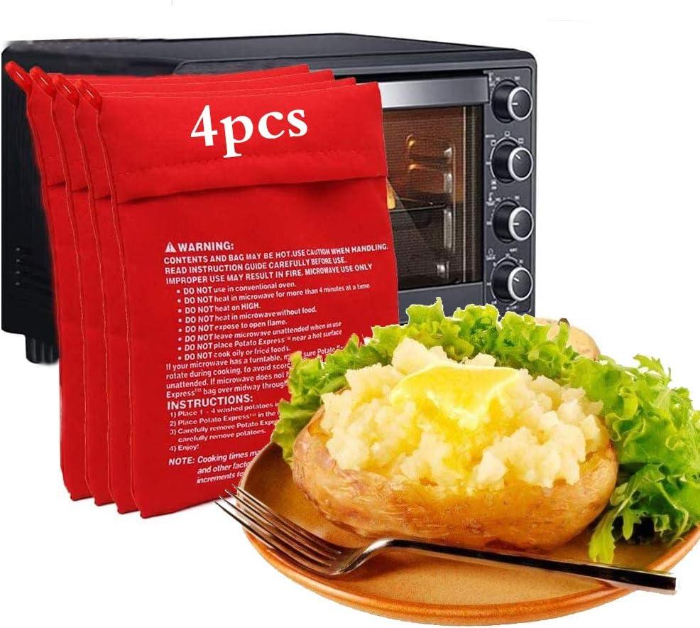 Bolsa de Patata de Microondas,Microondas Chaqueta,Bolsa de Papas para Microondas,Bolsa de Cocina Perfecto Patatas,Patatas Microondas,Bolsa de Patatas Pequeñas