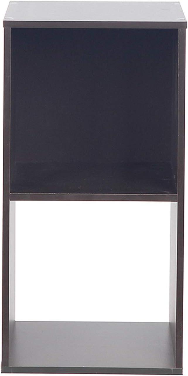 PACHIRA E-Commerce Wooden Storage Cubes, Unit Shelf, Closet Cabinet Bookcase, DVD Rack Bookshelf File Organizer Rack, Each Cube 28.5 cm, 2 Tier, Dark Brown