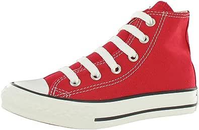 Converse Chuck Taylor All Star Core Hi Zapatillas de tela, Unisex - Infantil, Rojo, 31.5 EU