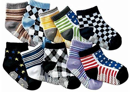 B&S FEEL Assorted Children Kids Socks Cotton Socks for Little Boys, 10 pairs