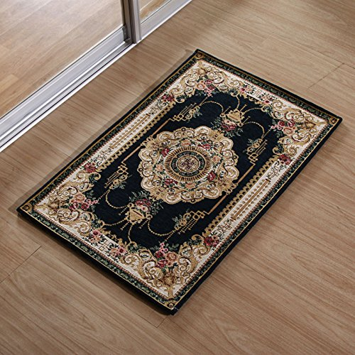 Household mats bathroom and kitchen carpet living room Ottomans bedroom door door mat -5080cm Dark blue by ZYZX