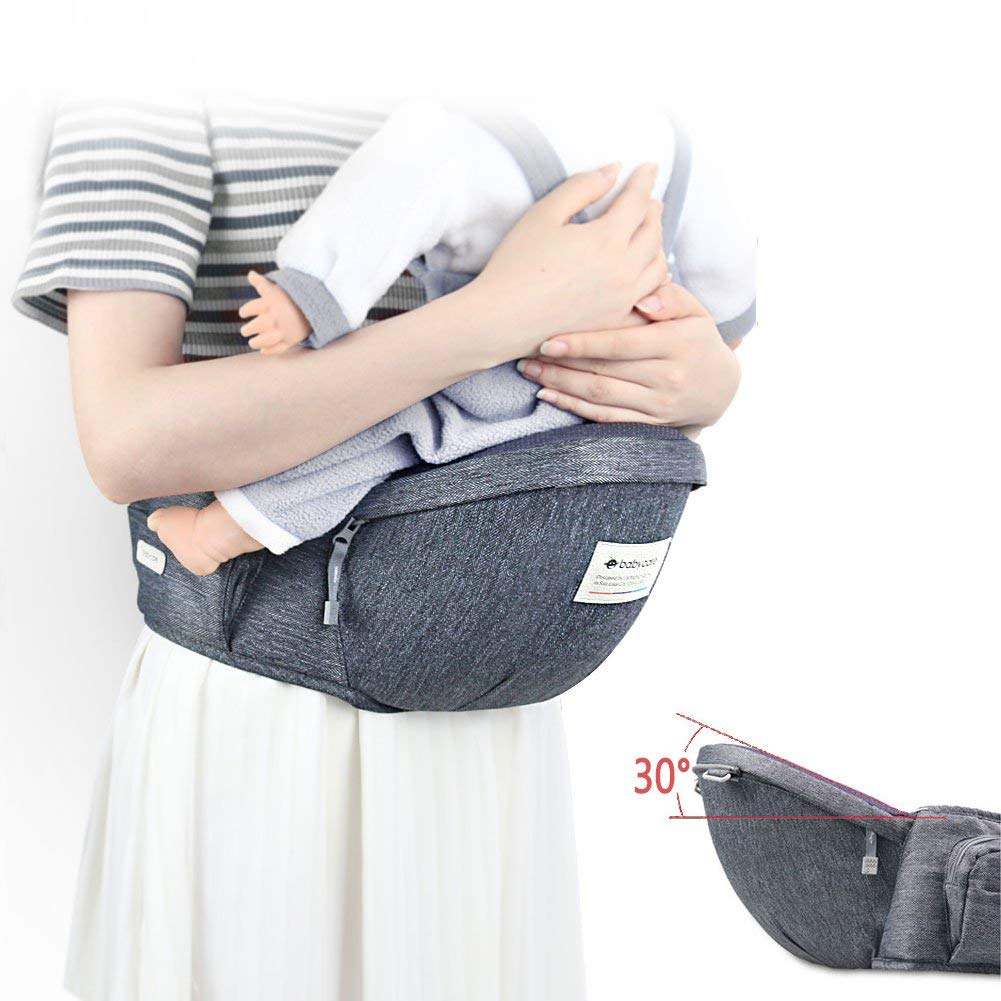 Baby Hip Seat Carrier,Baby Waist Seat with Adjustable Strap and Pocket,Baby Carrier Waist Stool Convinient Baby Front Carrier for 3-36 Month Baby