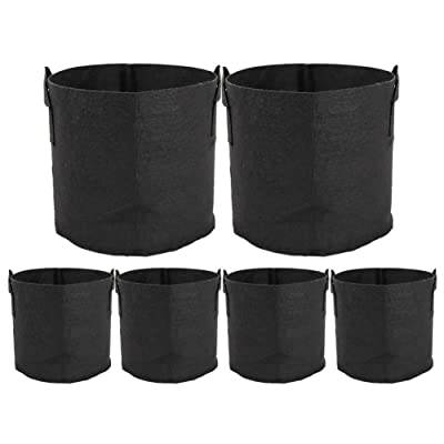 ValueHall Grow Bags Thickened Nonwoven Aeration Fabric Pots Plant Grow Bags Plant Pots with Handles V8020 (5 Gal) : Garden & Outdoor