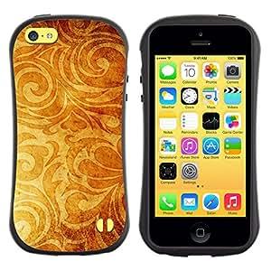 All-Round híbrido de goma duro caso cubierta protectora Accesorio Generación-I BY RAYDREAMMM - Apple iPhone 5C - Wallpaper Golden Brown Yellow Plant