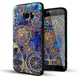 (US) Samsung Galaxy S7 Edge case,Lizimandu TPU pattern Case for Samsung Galaxy S7 Edge(Blue Flower)