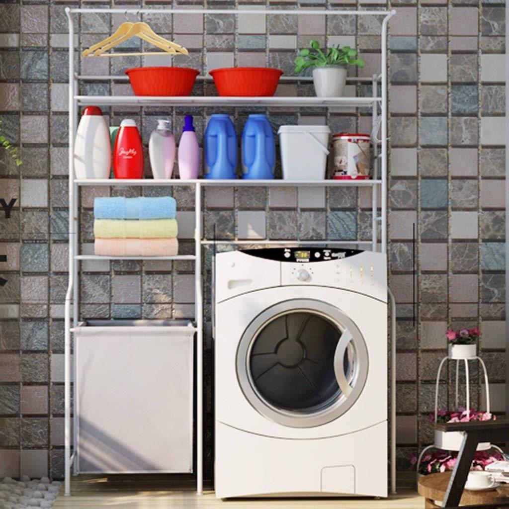 QSJZ Kitchen Storage Shelf Double-layer Washing Machine Rack Dryer Dishwasher 2 Stacking Shelves Bathroom Space Saver organisation color : A