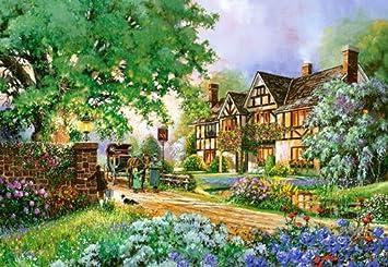 Englisches Cottage puzzle 2000 teile the coach inn garten gemalt douglas r