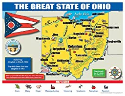 Gallopade Publishing Group Ohio State Map for Students - Pack of 30 (9780635106629)