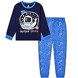 Babywearoutlet Boy's 2 Piece Cotton Pajamas Sleepwear Set Cute Cartoon Design Pajamas (A, 90CM)