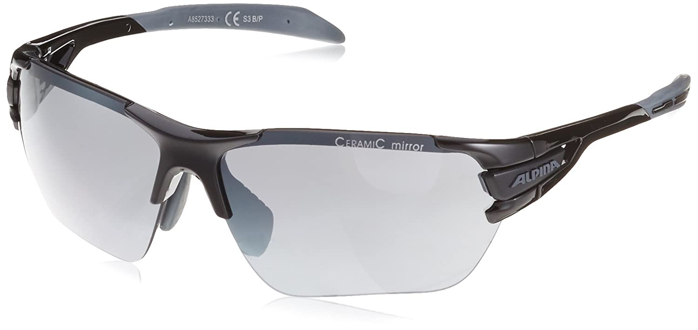 Alpina tRI-sCRAY lunettes de soleil de sport taille s (noir/gris/noir-verres miroir cERAMIC nF8AAr