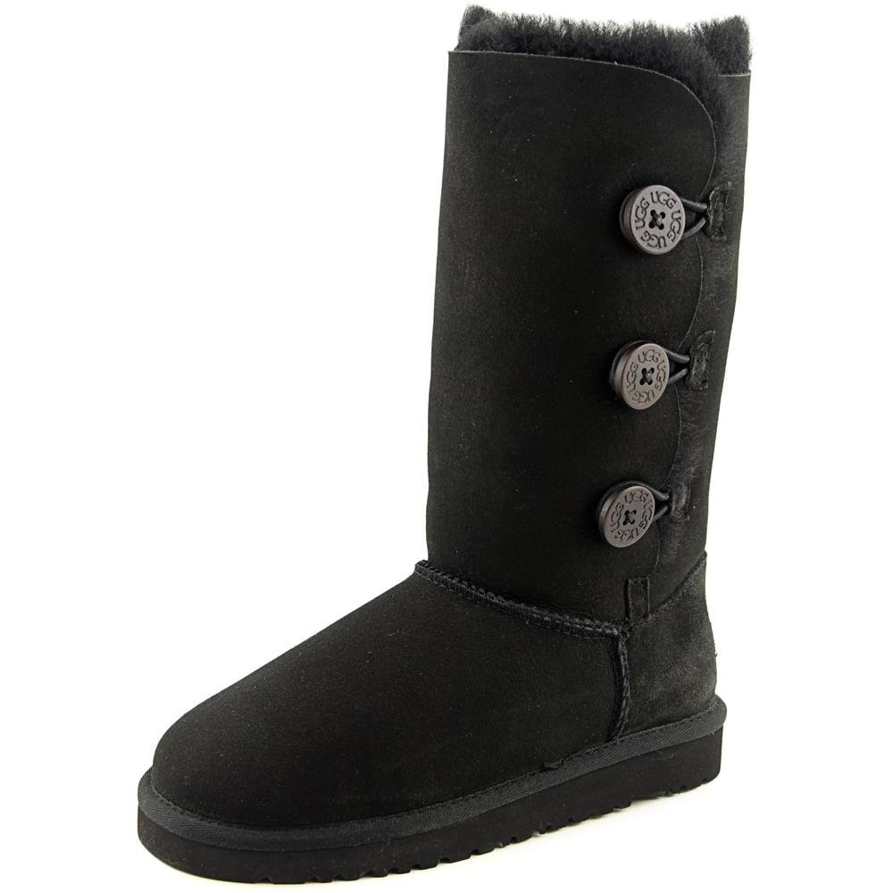 UGG Australia Children's Bailey Button Triplet Little Kids Shearling Boots,Black,US 5 Child US