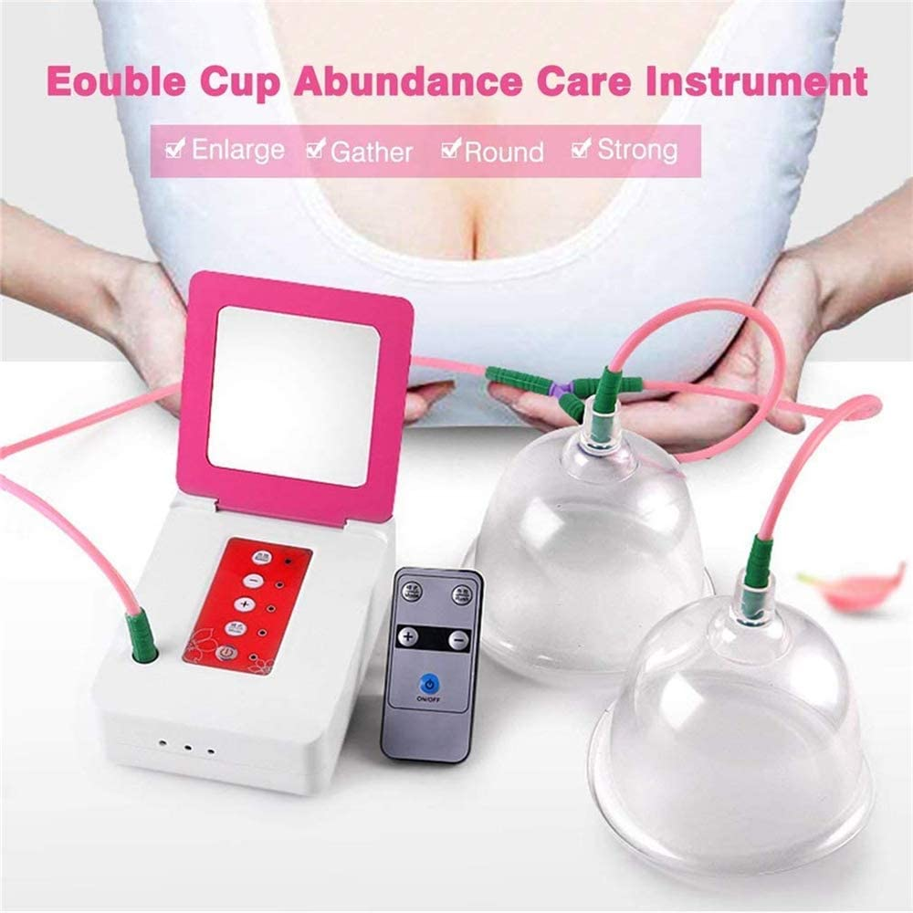 WanZhuanK Enlargement Female Breast Cup, Electric Breast Pump Breastfeeding Pump, Chest Care Machine Enlarger Breast Enlargement Stimulator