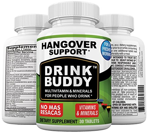 Drink Buddy 30 Day Supply # 1 Hangover Prevention and Recovery Formula.