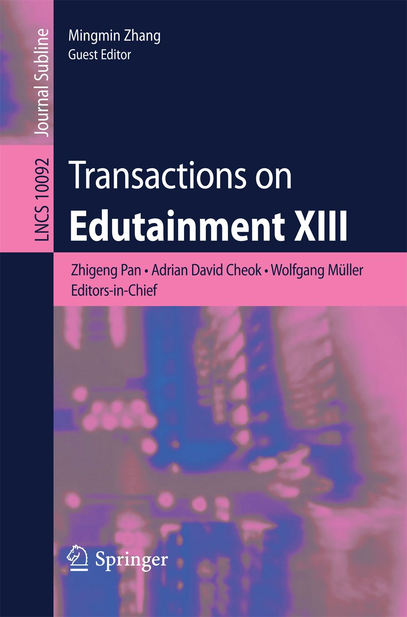 Amazon.com Transactions on Edutainment XIII Lecture Notes in ...