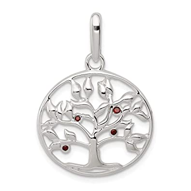 8f310f33123 Image Unavailable. Image not available for. Color  925 Sterling Silver Red  Cubic Zirconia ...