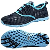 ALEADER Women's Quick Drying Aqua Water Shoes Blue 7 D(M) US/FR 37