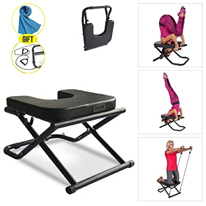 Apelila Yoga Chair Inversion Bench - Stand Yoga Chair Headstander for House, Gym Build Up Body Ideal Chair for Shoulderstand, Practice Head Stand, ...