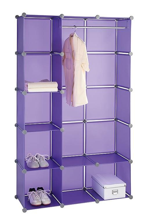 Steckregalsystem kleiderschrank  WENKO 2560030100 Kleiderschrank Honey Cube - Steckregalsystem ...