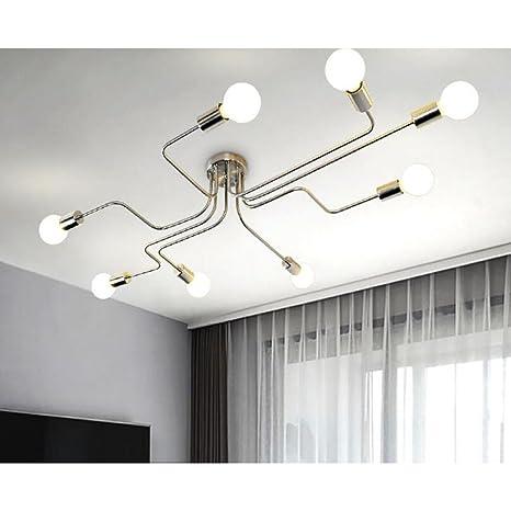 Lámpara de techo industrial, SUN RUN Lámpara de araña retro ...
