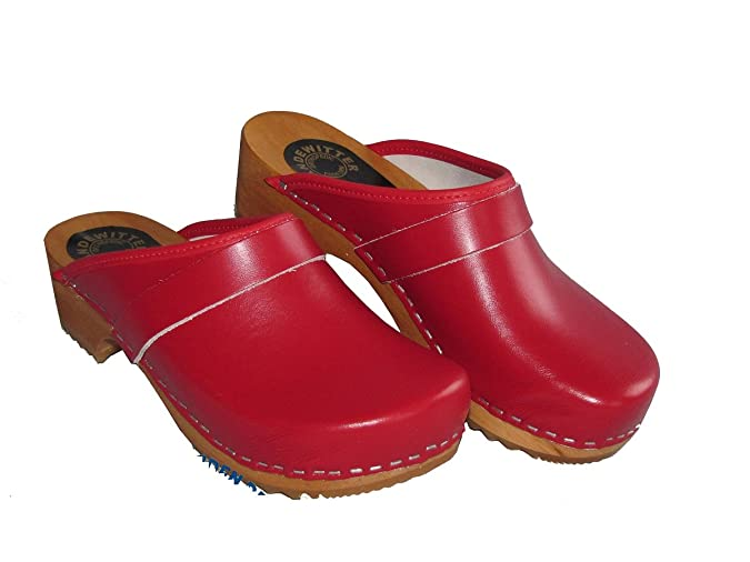 Handewitter Clogs Holzschuh Offen Rot (43) Mc7P6iS