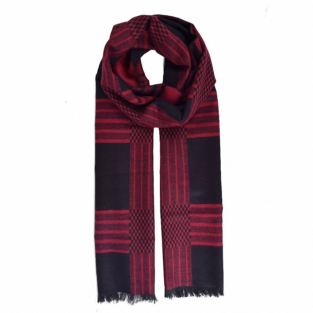694b0b07c Lictory Mens Scarf Winter Fashion Plaid Scarf Warm Scarves Man Luxury  Collocation Warp Black at Amazon Men's Clothing store: