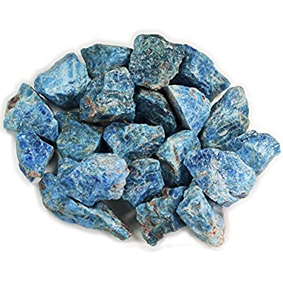 "Hypnotic Gems 1 lb Bulk Apatite Rough from Madagascar - Large 1"" Natural Raw Stones & Fountain Rocks for Tumbling, Cabbing, Polishing, Wire Wrapping, Wicca & Reiki Crystal Healing"