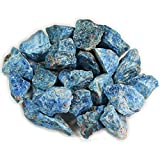 "1 lb Bulk Apatite Rough from Madagascar - Large 1"" Natural Raw Stones & Fountain Rocks for Tumbling, Cabbing, Polishing, Wire Wrapping, Wicca & Reiki Crystal Healing"
