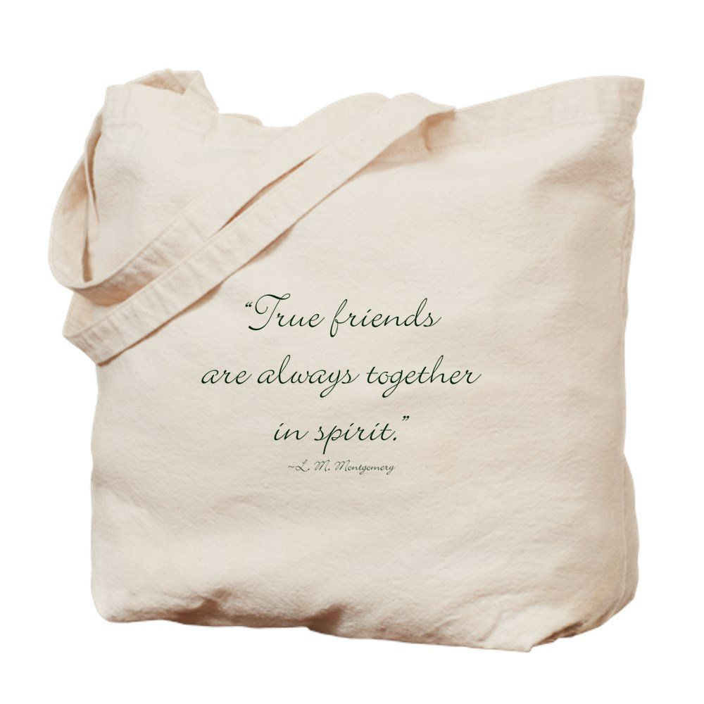 CafePress – True Friends Are Always Together In Spirit Tote Ba – ナチュラルキャンバストートバッグ、布ショッピングバッグ B06Y5RP14D