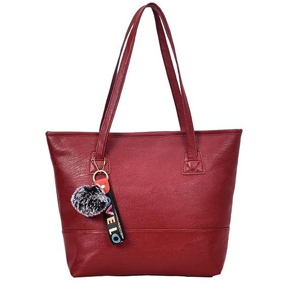 Rcool Bolsos para mujer Carteras de mano y clutches Shoppers y bolsos de hombro para mujer Bolsas mensajero para fans,Bolso de hombro de color sólido: ...