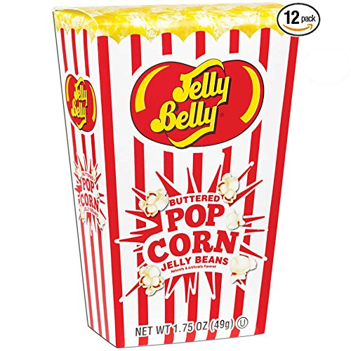 Jelly Belly Buttered Popcorn Jelly Bean Box, Each 1.75 Oz - Pack of 12 (Buttered Popcorn Jelly)
