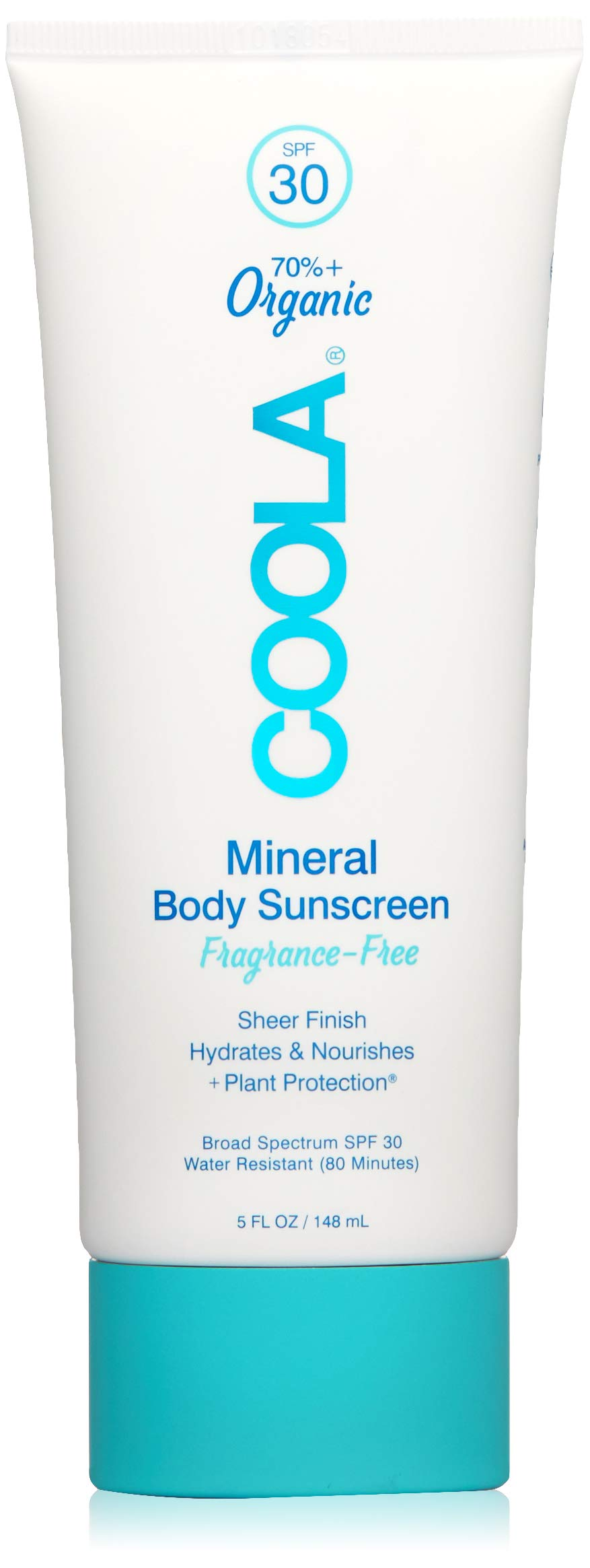 COOLA Organic Mineral Body Lotion | Broad Spectrum SPF 30 | Ultra-Hydrating | Reef Friendly | Sheer and Lightweight | Unscented  | Water Resistant