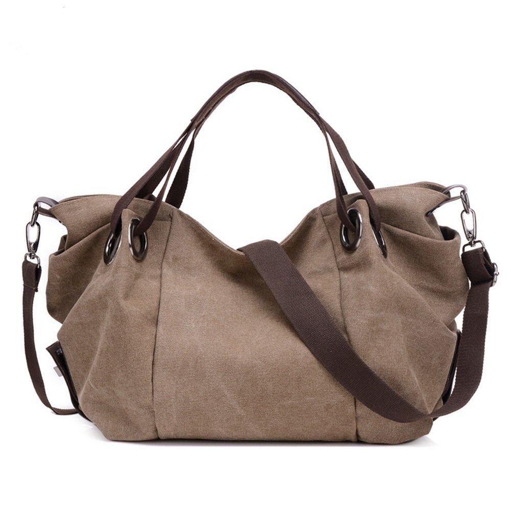 Ybriefbag Unisex Canvas Tote Bag Shoulder Messenger Bag Sports Leisure Travel Bags Bags Vacation