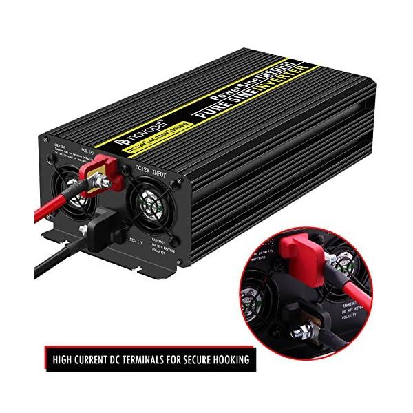 61GFFK%2BVb4L 3000W KFZ Reiner Sinus Spannungswandler - Auto Wechselrichter 12v auf 230v Umwandler - Inverter Konverter mit 2 EU…