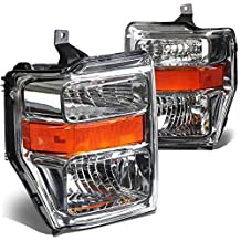 DNA Motoring HL-OH-FSUPER08-CH-AM Headlight Assembly (Driver and Passenger Side)