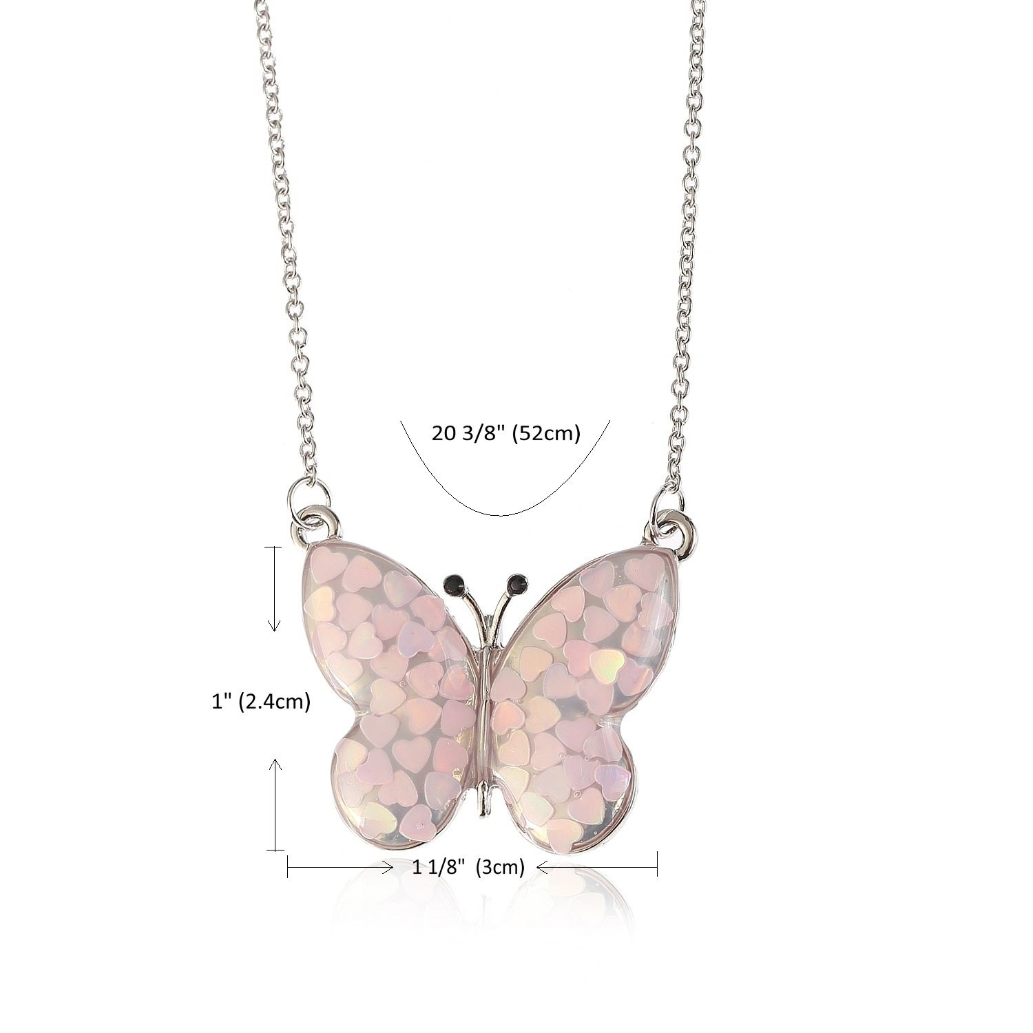 Lemonage Butterfly Necklaces for Girls Kids with Stunning Alloy Pendant Necklace, Children 3+ (Pink) by Lemonage (Image #6)
