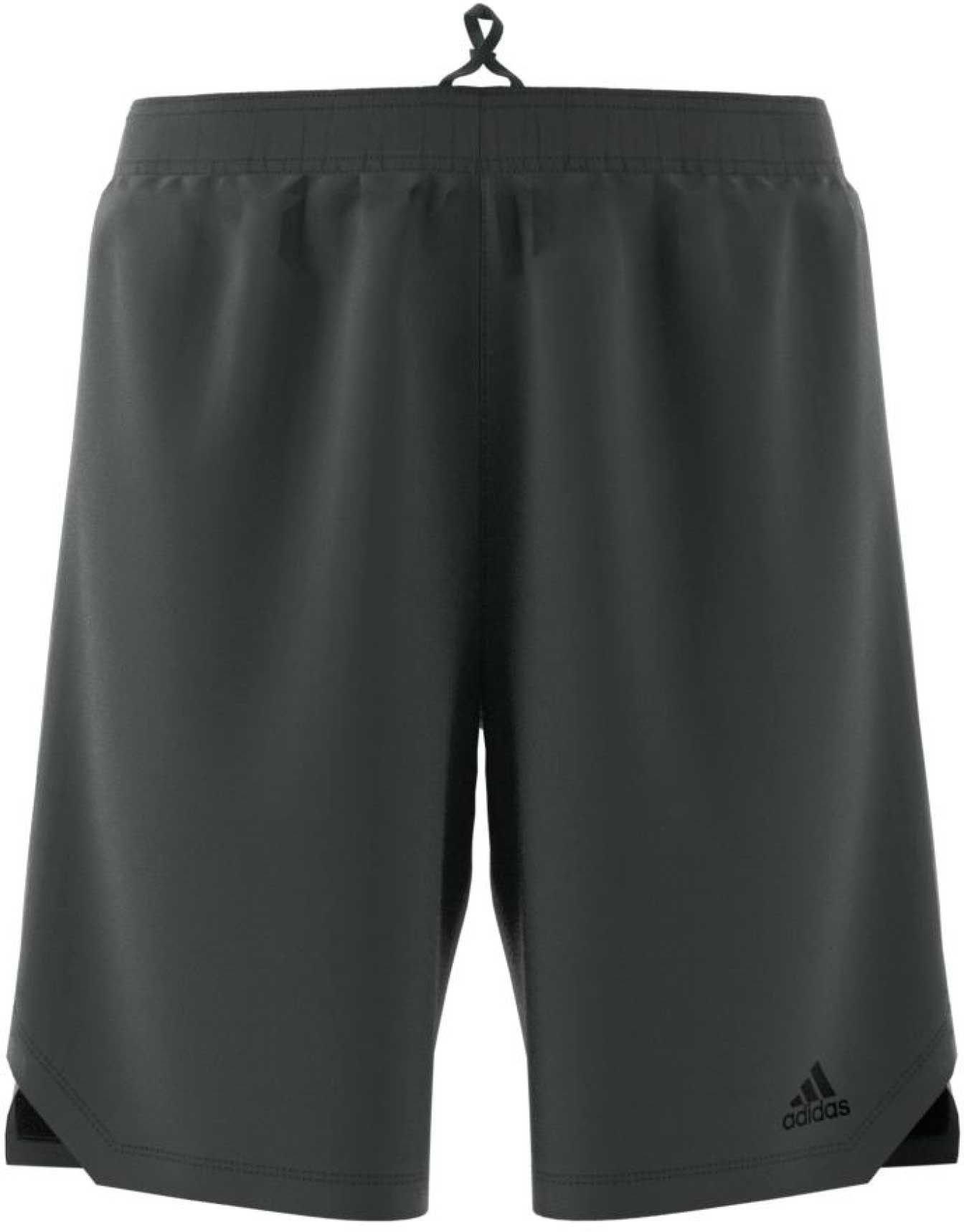adidas Men's Axis Knit Training Shorts (DGH/Black, XL)