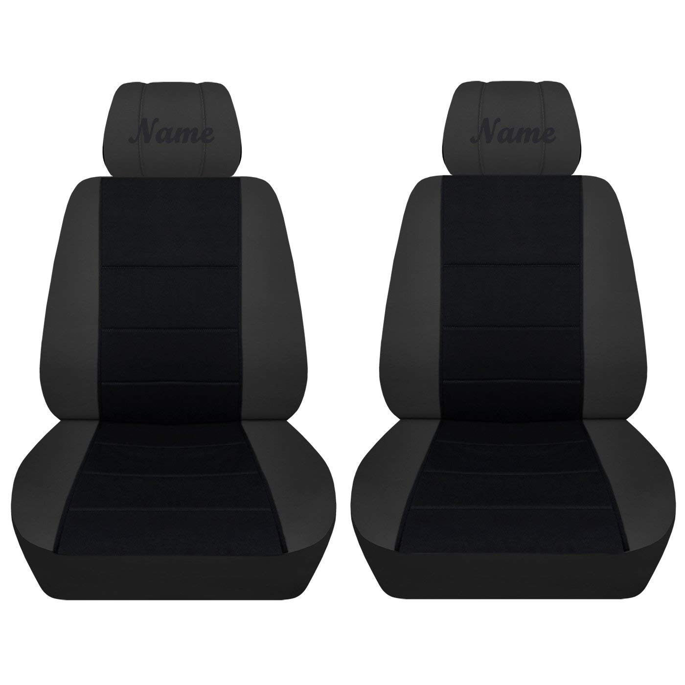 2013-2018 Altima, Steel Grey Black Fits Selected Nissan Models Seat Covers with a Name 21 Color Choices