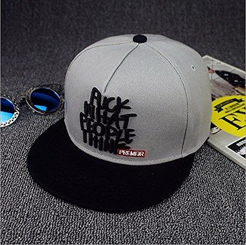 [Blazers Proforms Costumes Fashion trend Men's Snapback adjustable Unisex Baseball Cap Hip Hop hat - What People Think Gray] (In Stock Hip Hop Costumes)