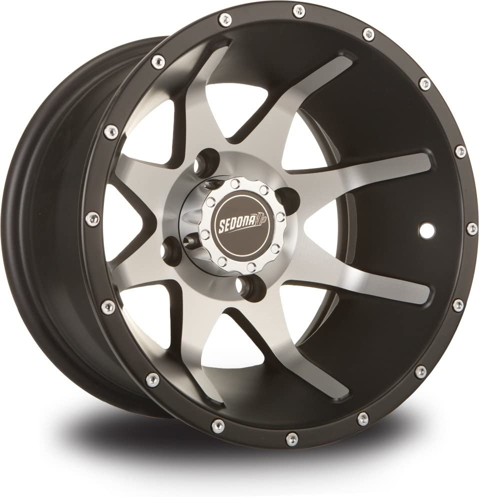 Position: Front//Rear D12R511 12x7-2+5 Offset Bolt Pattern: 4//110 Black Color: Black Rim Offset: 2+5 Wheel Rim Size: 12x7 ITP Delta Steel Wheel 4//110