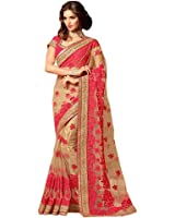 Tiana Creation Net Saree (Salsa_Beige)