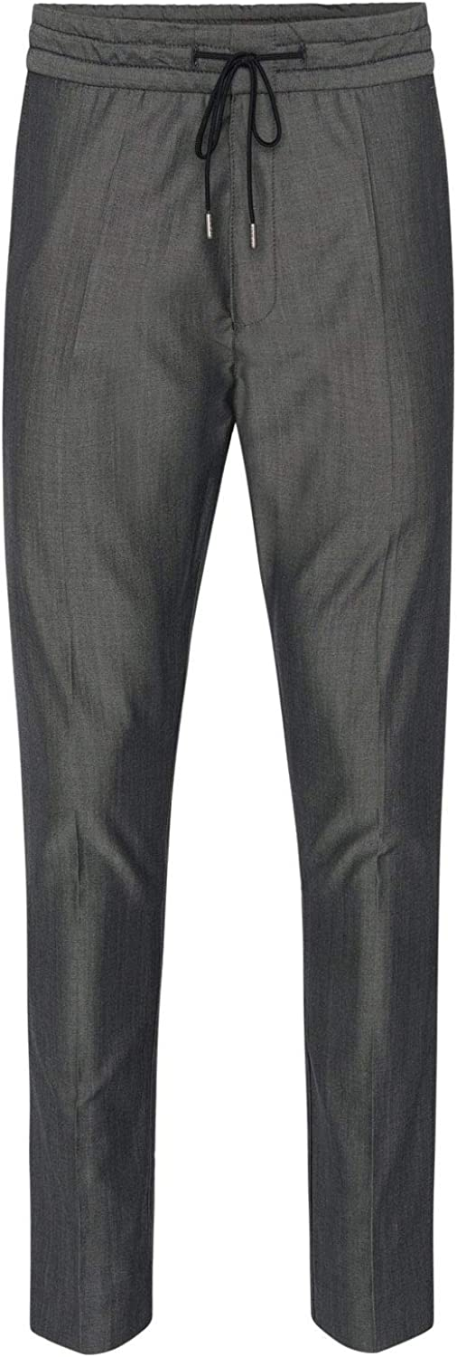 Hugo Boss Mens Himesh Wool-Blend Jogger Pants