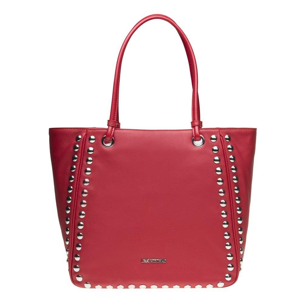 LOVE Moschino Women's Studded Large Tote Red Handbag
