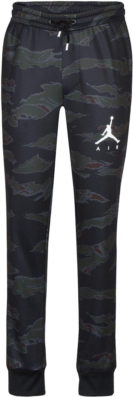 Jordan Boys Tiger Camo Jogger Pants L, Black//Dark Green