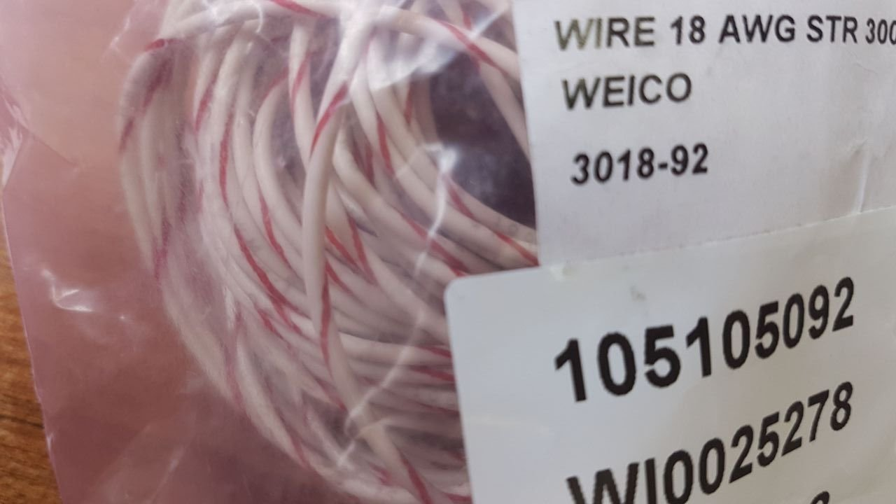 WEICO 3018-92 19 METERS Hook-Up Wire 18 AWG: Amazon.com: Industrial ...